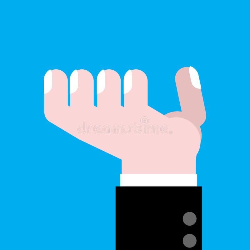 Isolerat fråga för hand Finger av affärsmannen också vektor för coreldrawillustration royaltyfri illustrationer