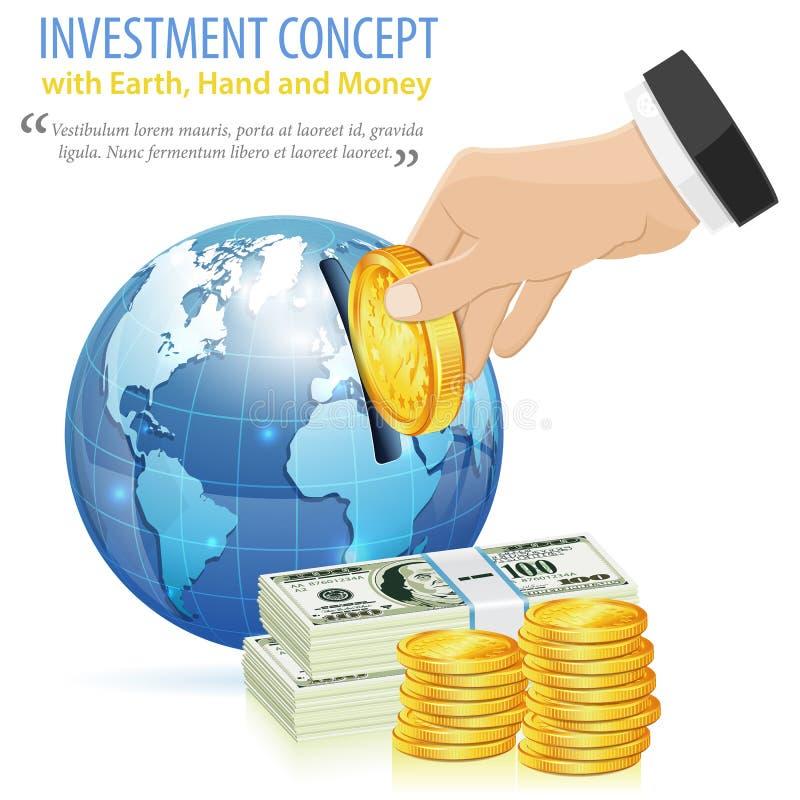 isolerat framförande för begrepp 3d investering stock illustrationer