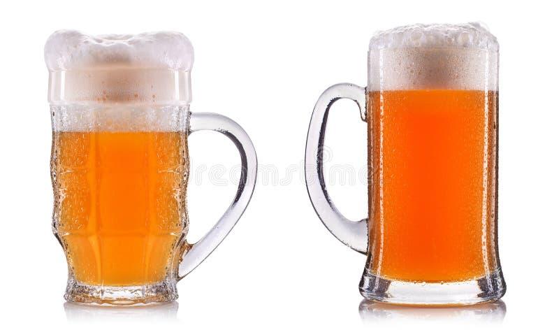 Isolerat frostigt exponeringsglas av öl arkivfoto