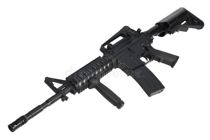 Isolerat gevär för anfall M4 royaltyfri foto