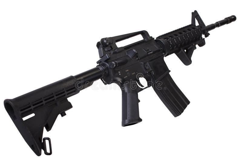 Isolerat gevär för anfall M4 arkivbild