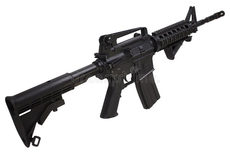 Isolerat gevär för anfall M4 royaltyfri fotografi