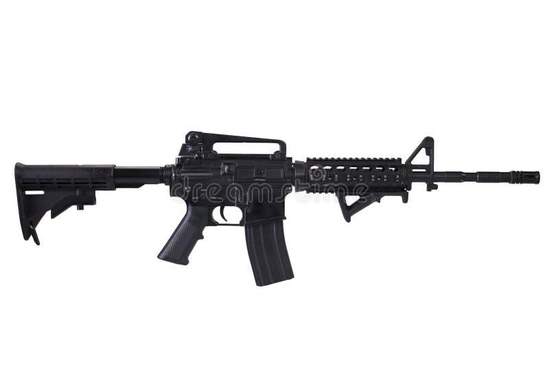 Isolerat gevär för anfall M4 royaltyfria bilder