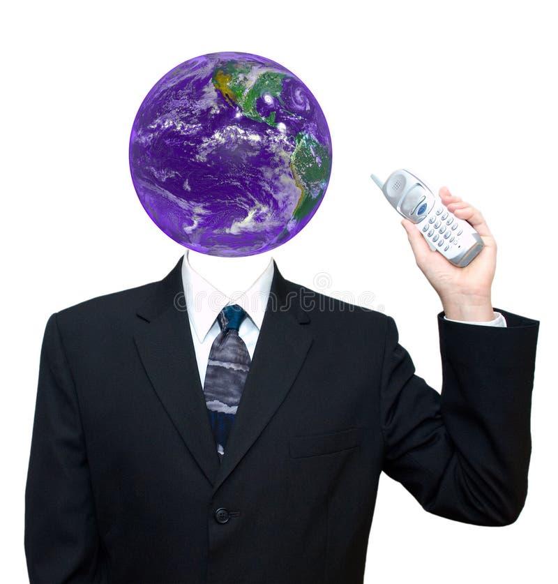 isolerat globalt för affärskommunikation arkivfoto