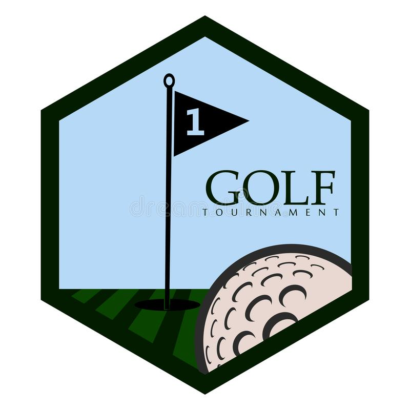 Isolerat golfemblem vektor illustrationer