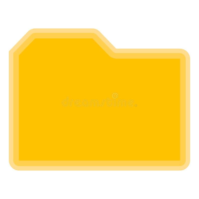 Isolerat gult mappsymbol på vit bakgrund royaltyfri illustrationer