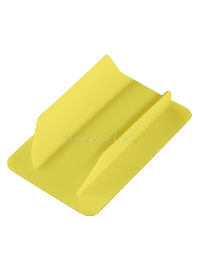 Isolerat gult plast- kort fotografering för bildbyråer