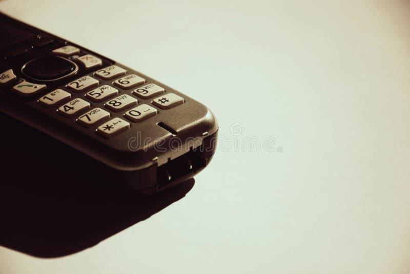 Isolerat hjälpmedel för mobiltelefonaffärskommunikation arkivbild