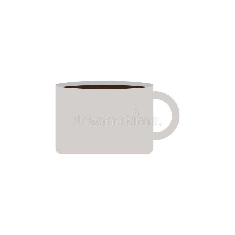 Isolerat kaffe rånar symbolen royaltyfri illustrationer