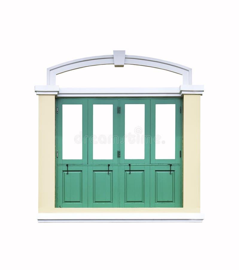 Isolerat klassiskt fönster royaltyfri bild