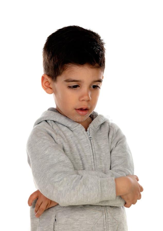 Isolerat ledset barn fotografering för bildbyråer