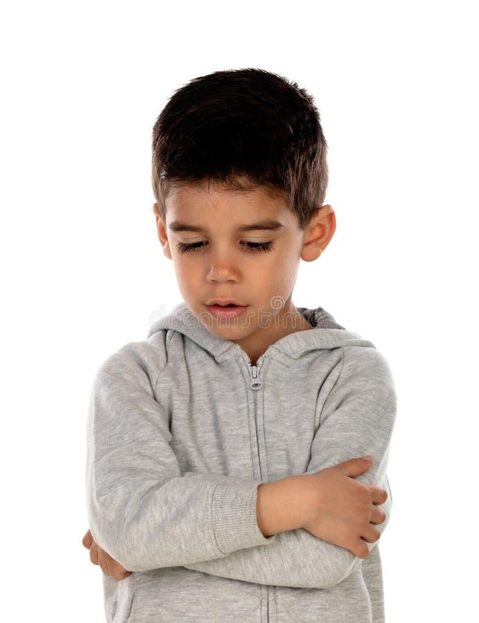 Isolerat ledset barn arkivbilder