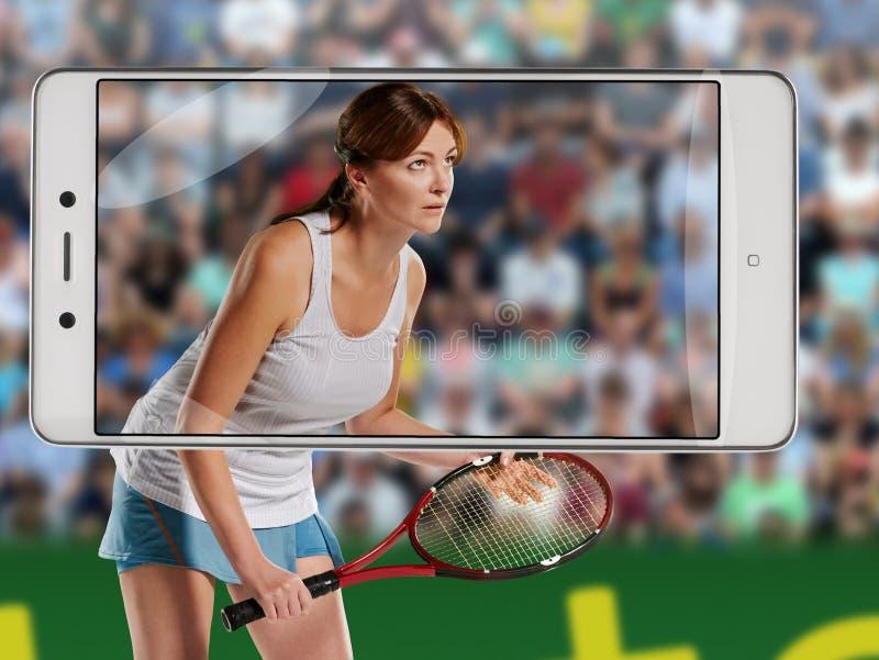 isolerat leka vitt kvinnabarn för tennis arkivbilder