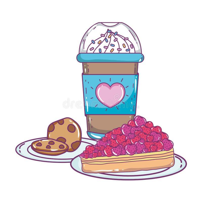 Isolerat med is kaffe rånar vektordesign stock illustrationer