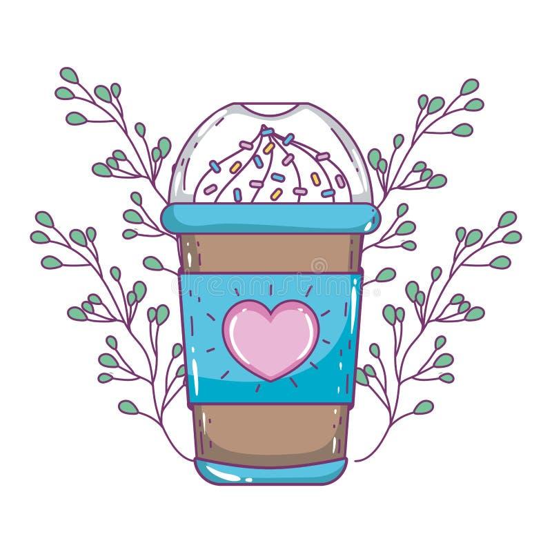 Isolerat med is kaffe rånar vektordesign royaltyfri illustrationer