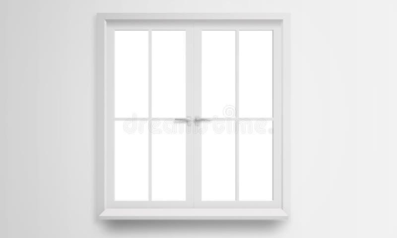 Isolerat modernt fönster royaltyfri bild