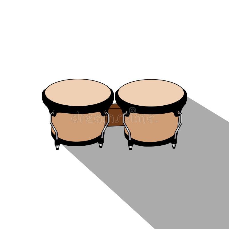 Download Isolerat musikinstrument vektor illustrationer. Illustration av utrustning - 106830336