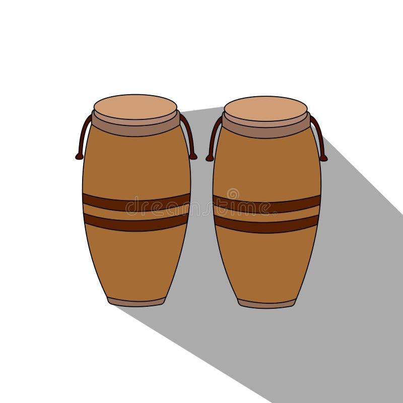 Download Isolerat musikinstrument vektor illustrationer. Illustration av objekt - 106830342