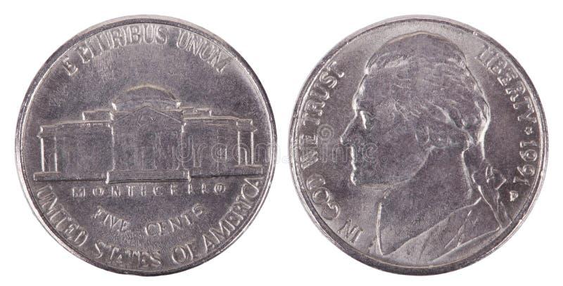 Isolerat mynt - båda Frontal sidor royaltyfri bild