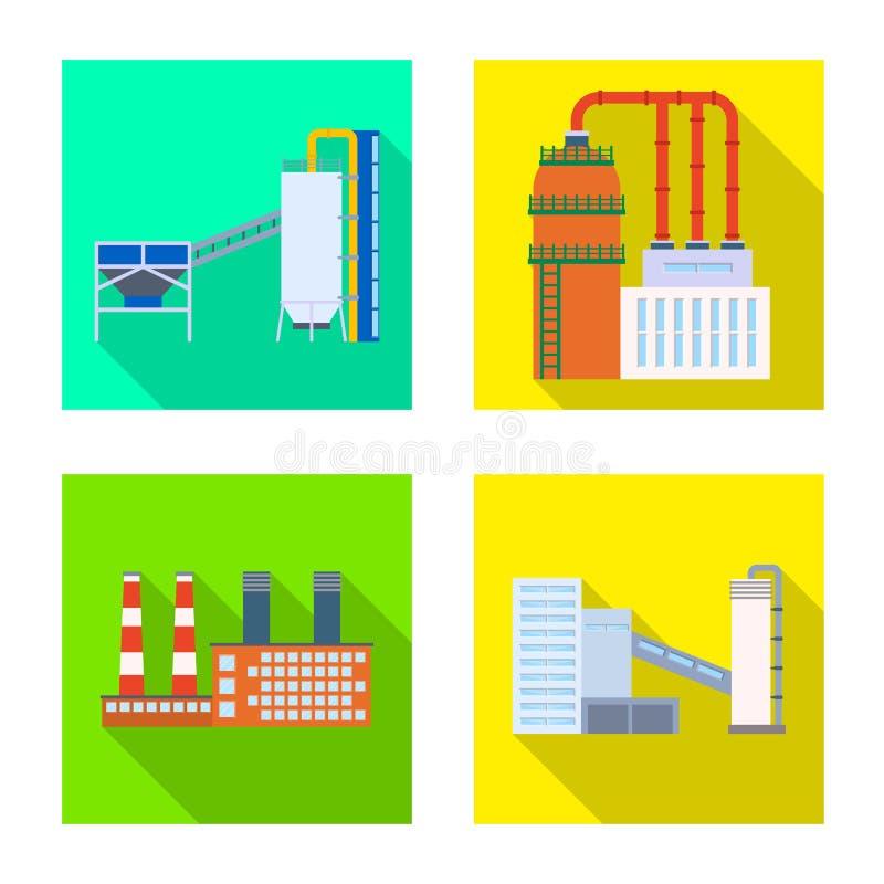 Isolerat objekt av arkitektur- och teknologisymbolet Samling av arkitektur och byggnadsmaterielsymbolet f?r reng?ringsduk vektor illustrationer