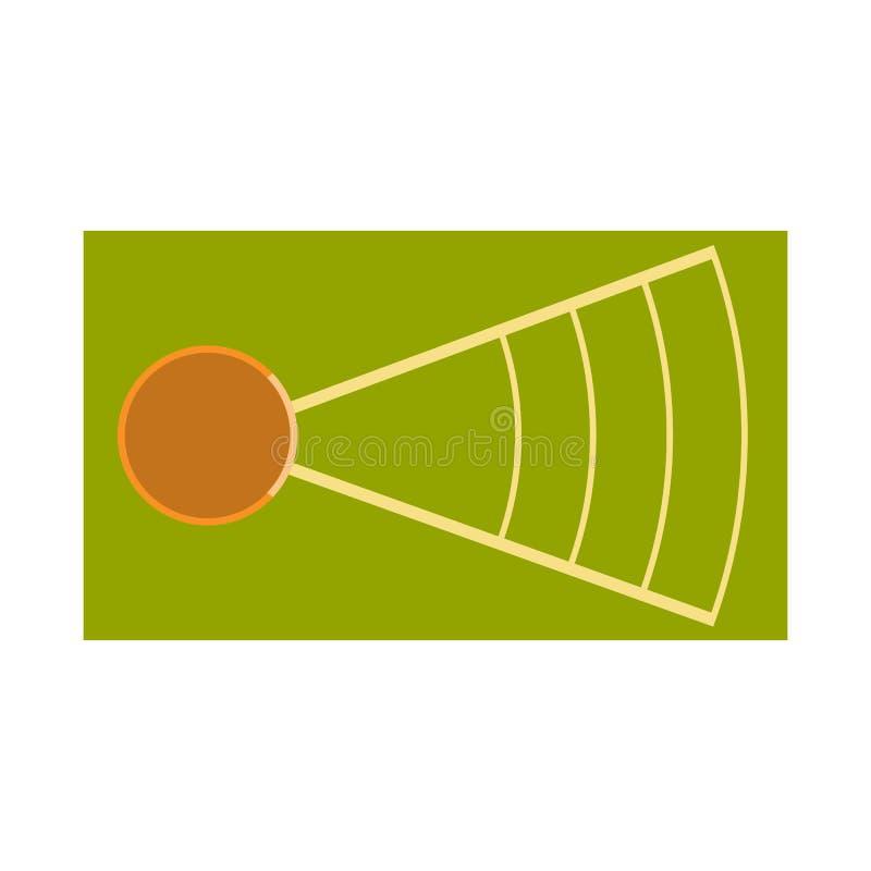 Isolerat objekt av att kasta och jordlogoen Samling av kasta och friidrottmaterielsymbolet för rengöringsduk vektor illustrationer