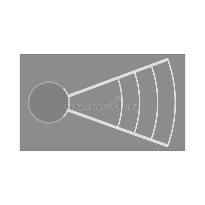 Isolerat objekt av att kasta och jordtecknet Ställ in av kasta och friidrottmaterielsymbolet för rengöringsduk stock illustrationer