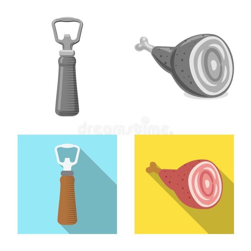 Isolerat objekt av bar- och st?ngsymbolet Samling av bar- och inrematerielsymbolet f?r reng?ringsduk royaltyfri illustrationer