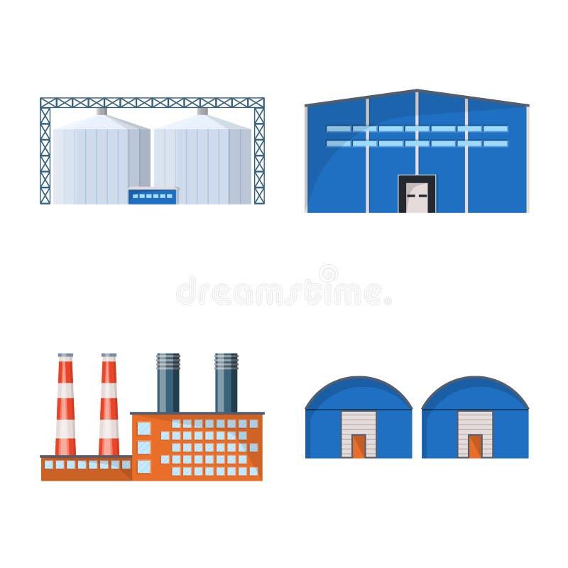 Isolerat objekt av bransch- och byggnadstecknet St?ll in av bransch- och konstruktionsmaterielsymbolet f?r reng?ringsduk stock illustrationer