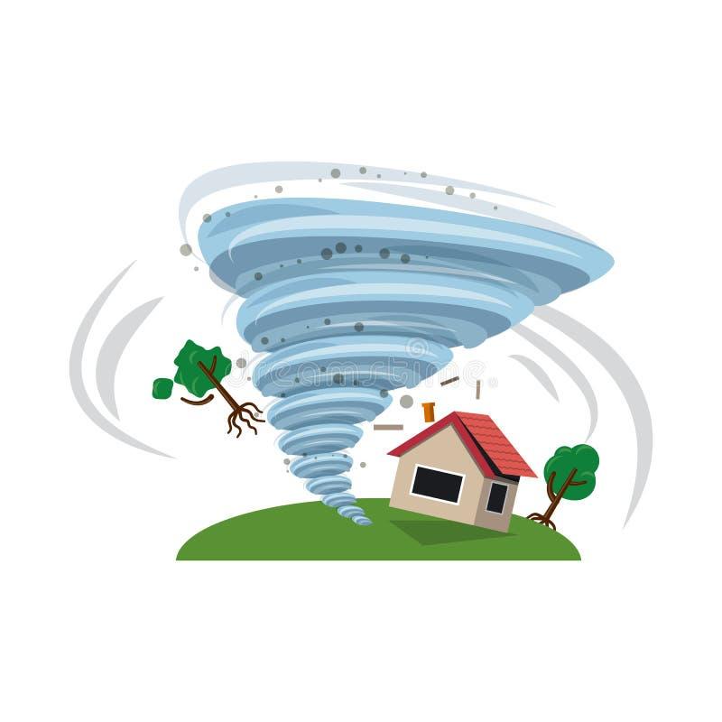 Isolerat objekt av den naturlig och katastroflogoen Uppsättning av den naturlig och för riskmaterielvektor illustrationen stock illustrationer