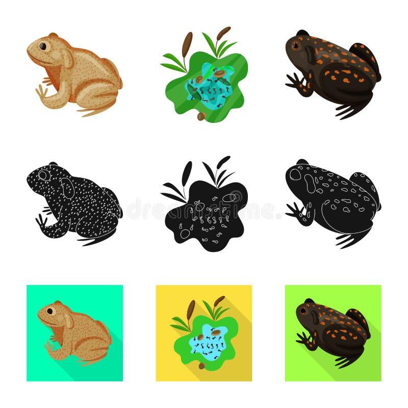 Isolerat objekt av djurliv- och myrlogoen St?ll in av djurliv- och reptilvektorsymbolen f?r materiel vektor illustrationer