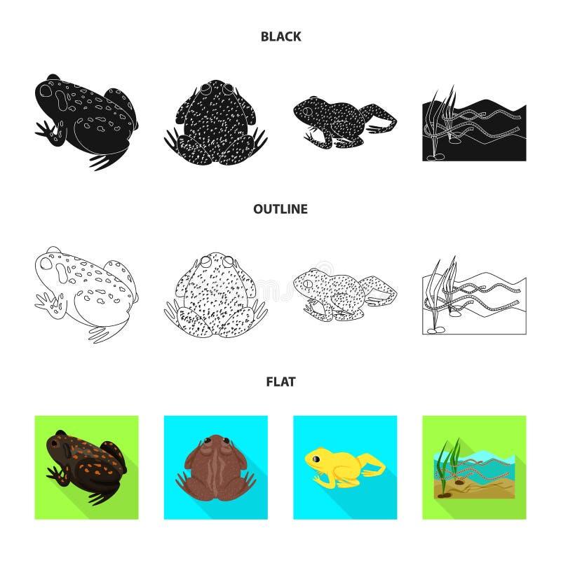 Isolerat objekt av djurliv- och myrsymbolen St?ll in av djurliv- och reptilmaterielsymbolet f?r reng?ringsduk stock illustrationer