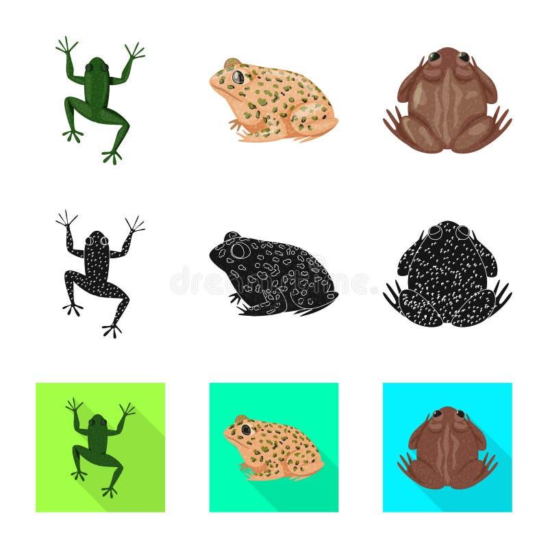 Isolerat objekt av djurliv- och myrsymbolet St?ll in av djurliv- och reptilvektorsymbolen f?r materiel royaltyfri illustrationer