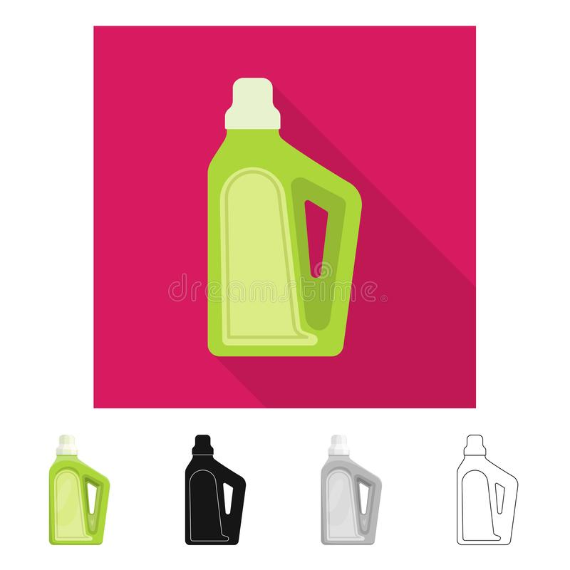 Isolerat objekt av hush?ll- och kemikaliesymbolen Samling av hush?ll- och flaskmaterielsymbolet f?r reng?ringsduk vektor illustrationer