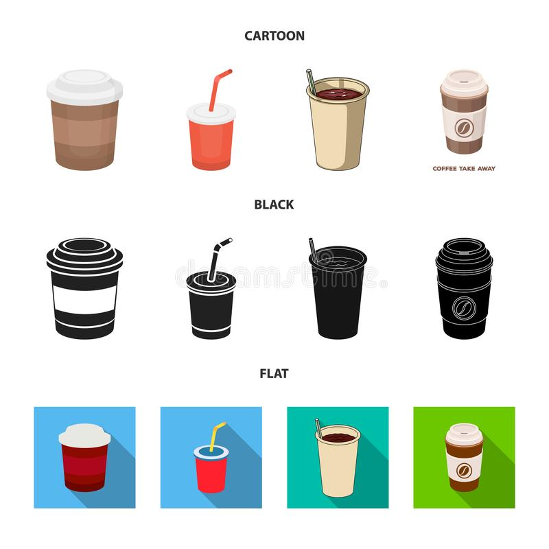 Isolerat objekt av kaffe- och koppsymbolet St?ll in av kaffe och den varma vektorsymbolen f?r materiel vektor illustrationer
