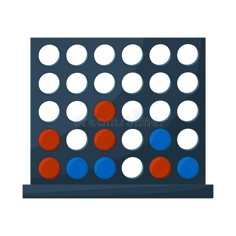 Isolerat objekt av lek- och utrustningsymbolet Ställ in av modig och kasta materielvektorillustration stock illustrationer