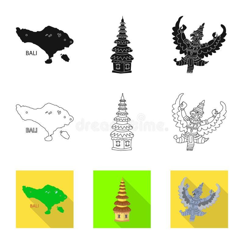 Isolerat objekt av och loppsymbol St?ll in av och den traditionella materielvektorillustrationen royaltyfri illustrationer
