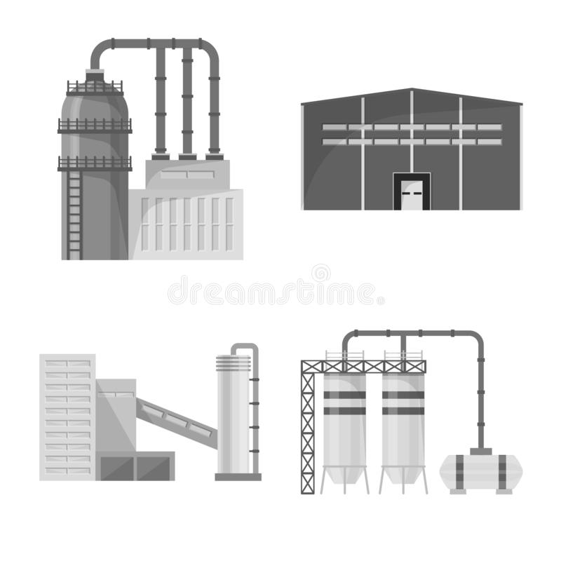 Isolerat objekt av produktion- och struktursymbolen r stock illustrationer