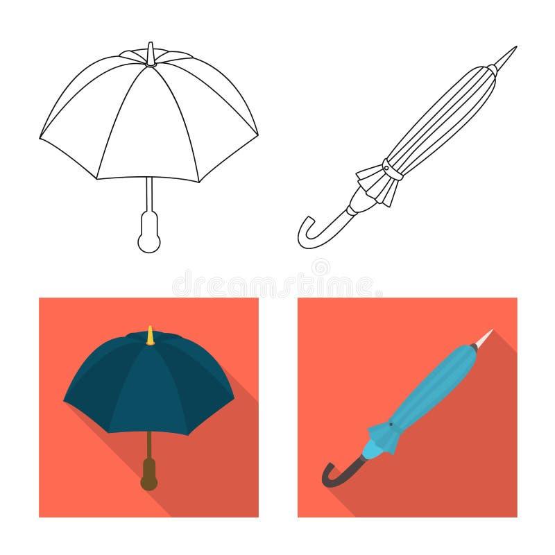 Isolerat objekt av skydd och det st?ngda symbolet Samlingen av skydd och regnigt lagerf?r symbolet f?r reng?ringsduk stock illustrationer