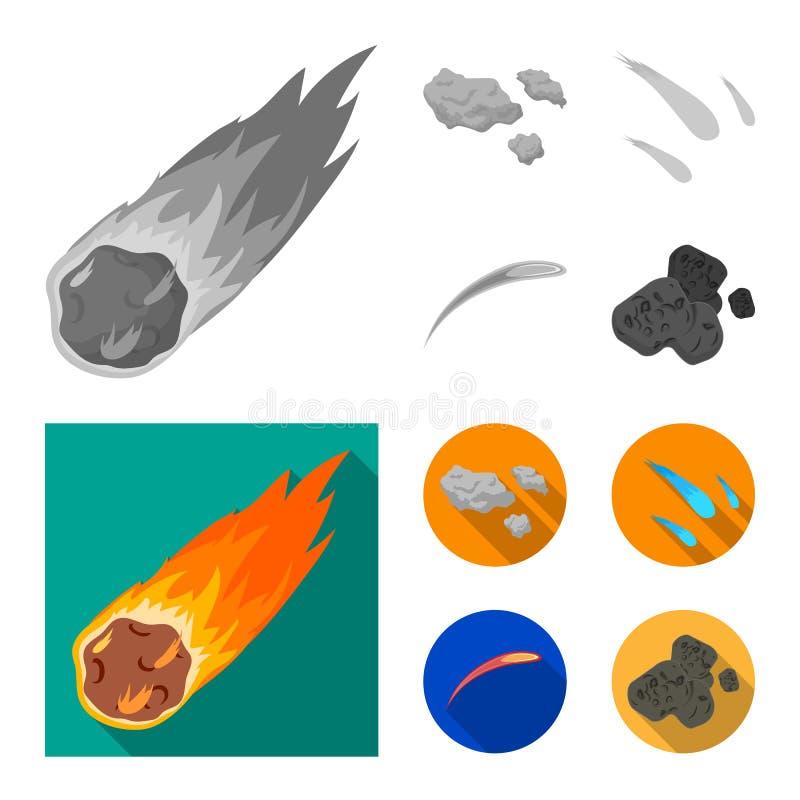 Isolerat objekt av skytte- och brandlogoen Samlingen av skytte och asteroiden lagerf?r symbolet f?r reng?ringsduk stock illustrationer