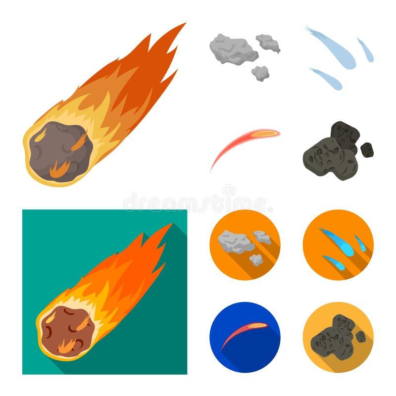 Isolerat objekt av skytte- och brandsymbolen Upps?ttning av skytte- och asteroidmaterielsymbolet f?r reng?ringsduk stock illustrationer