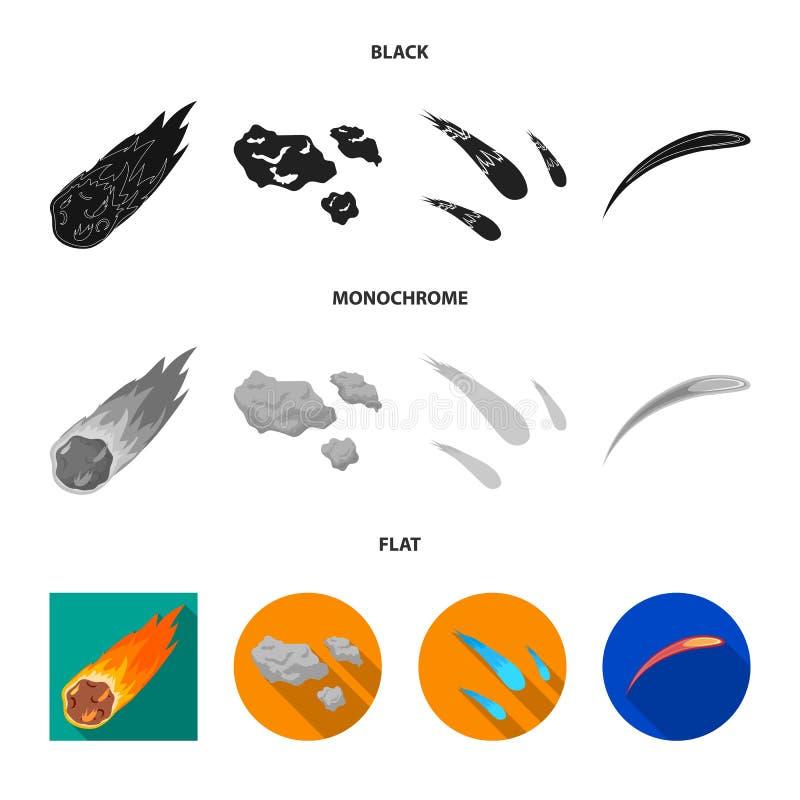 Isolerat objekt av skytte- och brandsymbolet Samling av skytte- och asteroidvektorsymbolen f?r materiel vektor illustrationer