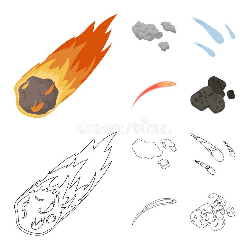 Isolerat objekt av skytte- och brandtecknet Samlingen av skytte och asteroiden lagerf?r symbolet f?r reng?ringsduk stock illustrationer