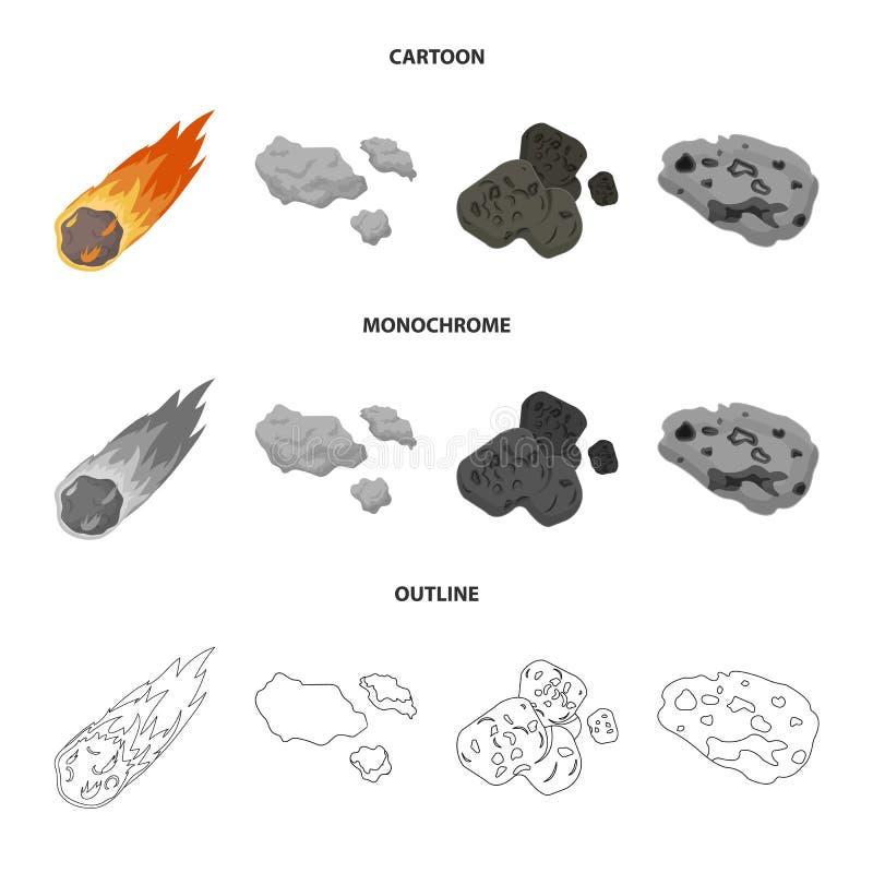 Isolerat objekt av skytte- och brandtecknet Samlingen av skytte och asteroiden lagerf?r vektorillustrationen vektor illustrationer