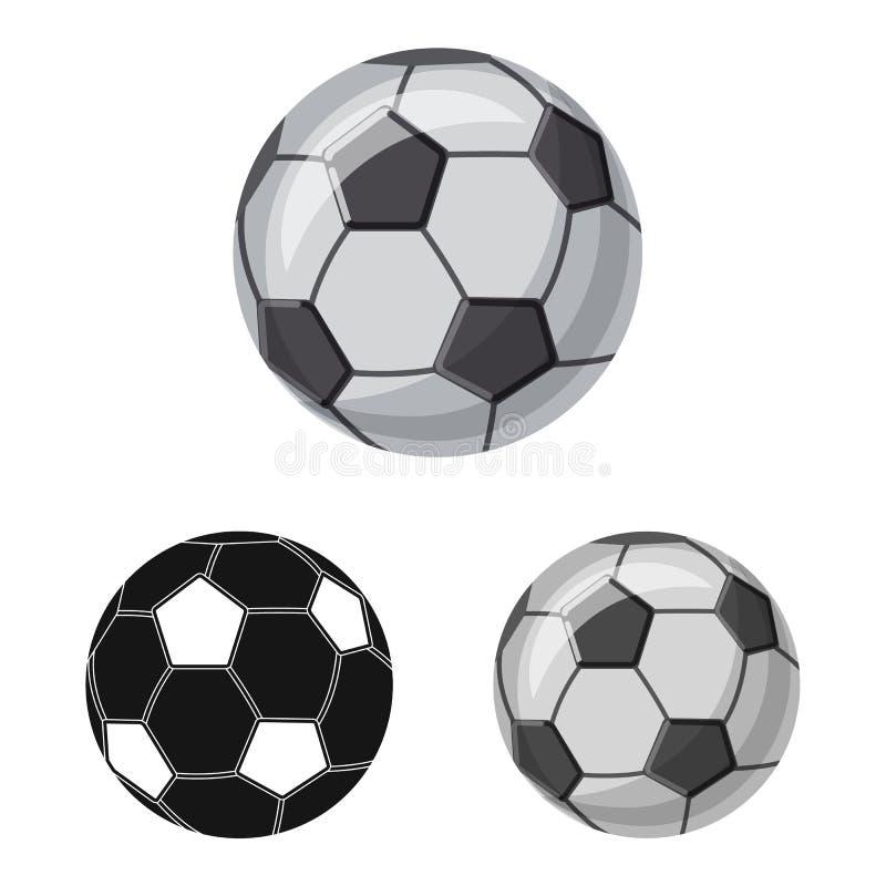 Isolerat objekt av sport- och bolllogoen Upps?ttning av sporten och den idrotts- materielvektorillustrationen royaltyfri illustrationer