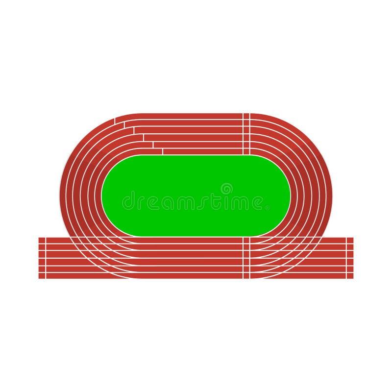 Isolerat objekt av stadion- och friidrottsymbolen Ställ in av illustration för stadion- och loppmaterielvektor vektor illustrationer