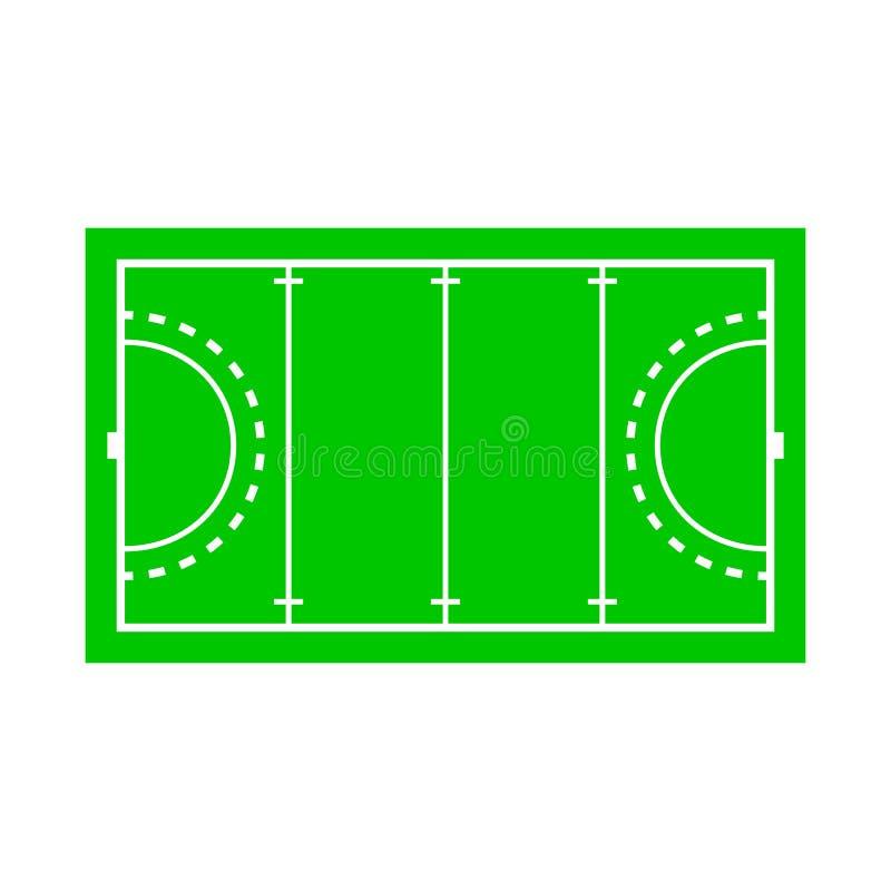 Isolerat objekt av stadion- och hockeysymbolet Samling av illustrationen för stadion- och målmaterielvektor stock illustrationer