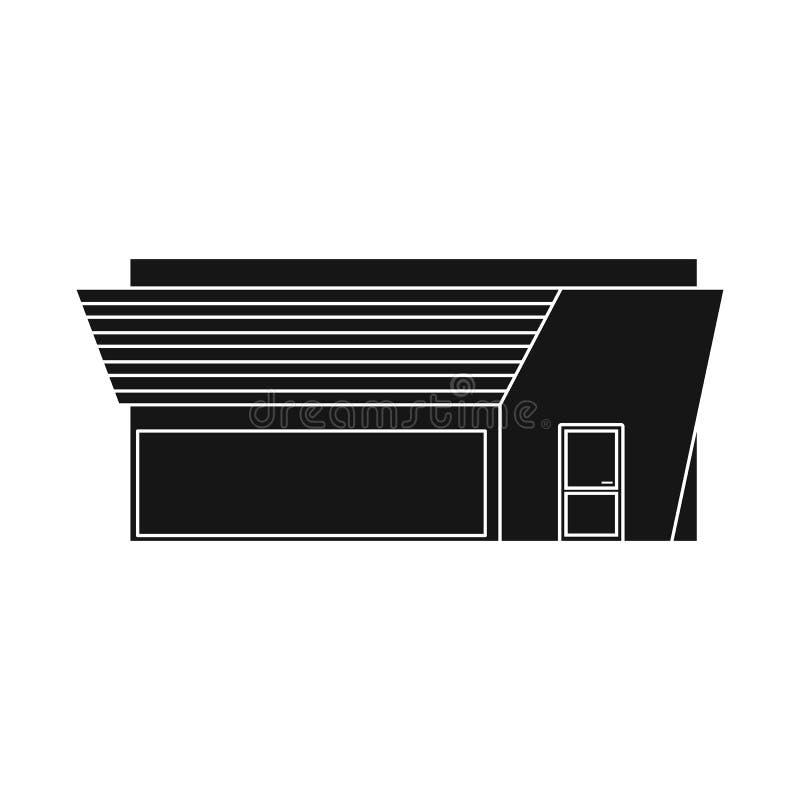 Isolerat objekt av stormarknaden och det moderna symbolet Samlingen av stormarknaden och reklamfilmen lagerför vektorillustration royaltyfri illustrationer