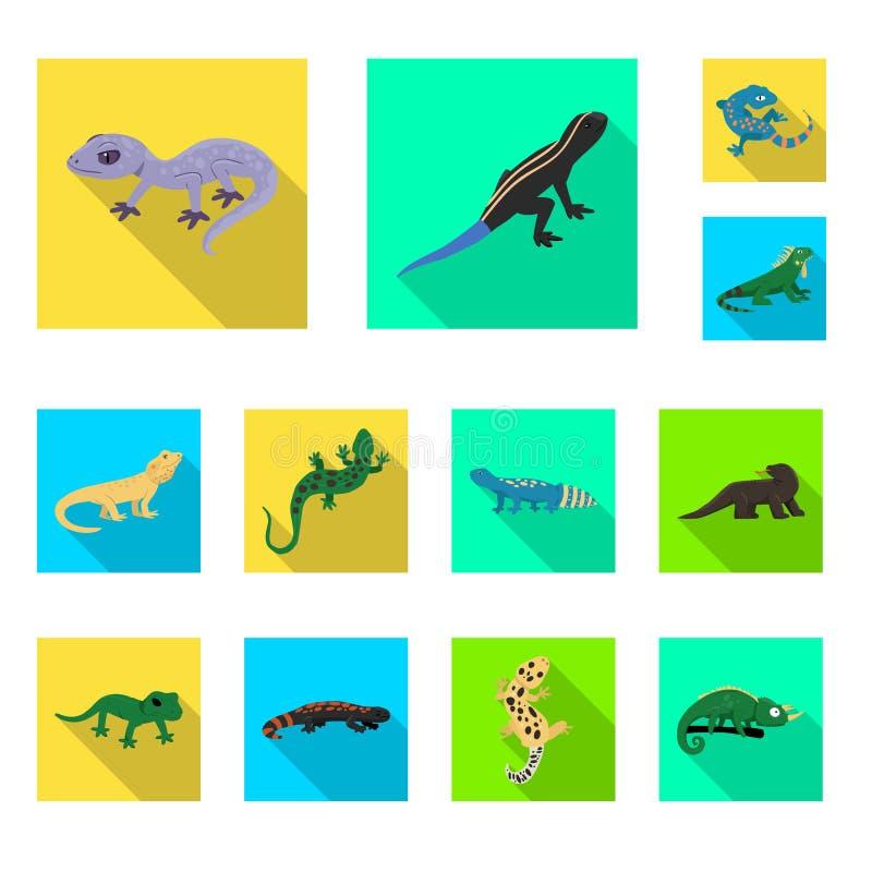 Isolerat objekt av svans- och faunasymbolet Samling av illustrationen för svans- och miljömaterielvektor vektor illustrationer