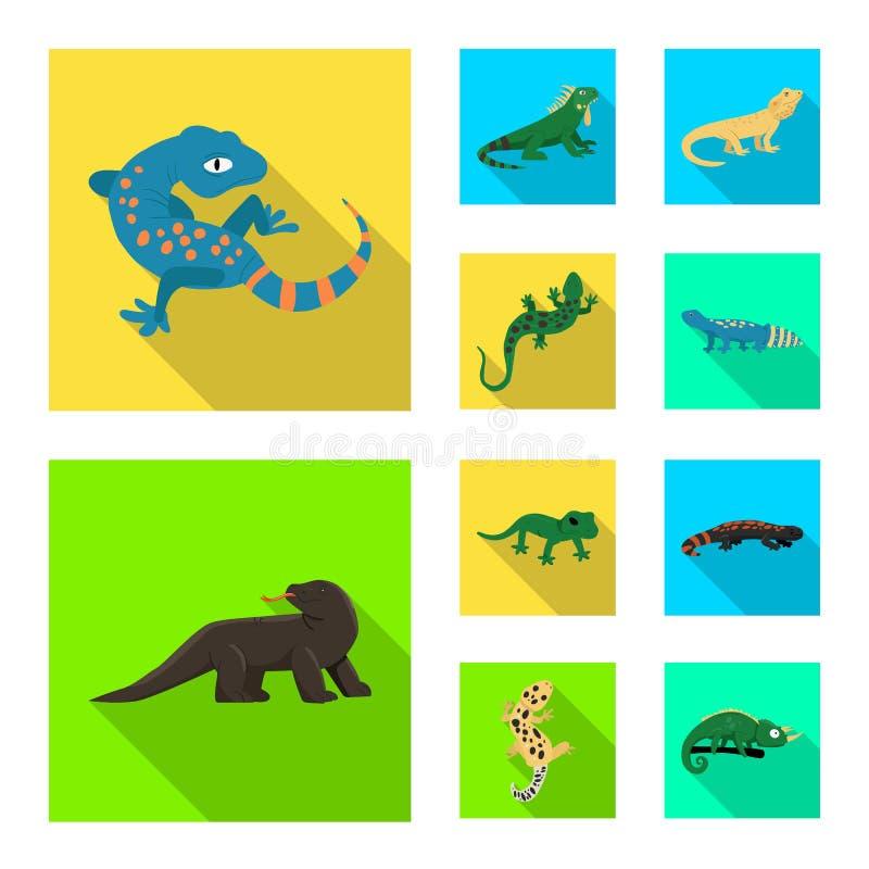 Isolerat objekt av svans- och faunatecknet Ställ in av svans- och miljömaterielsymbolet för rengöringsduk stock illustrationer