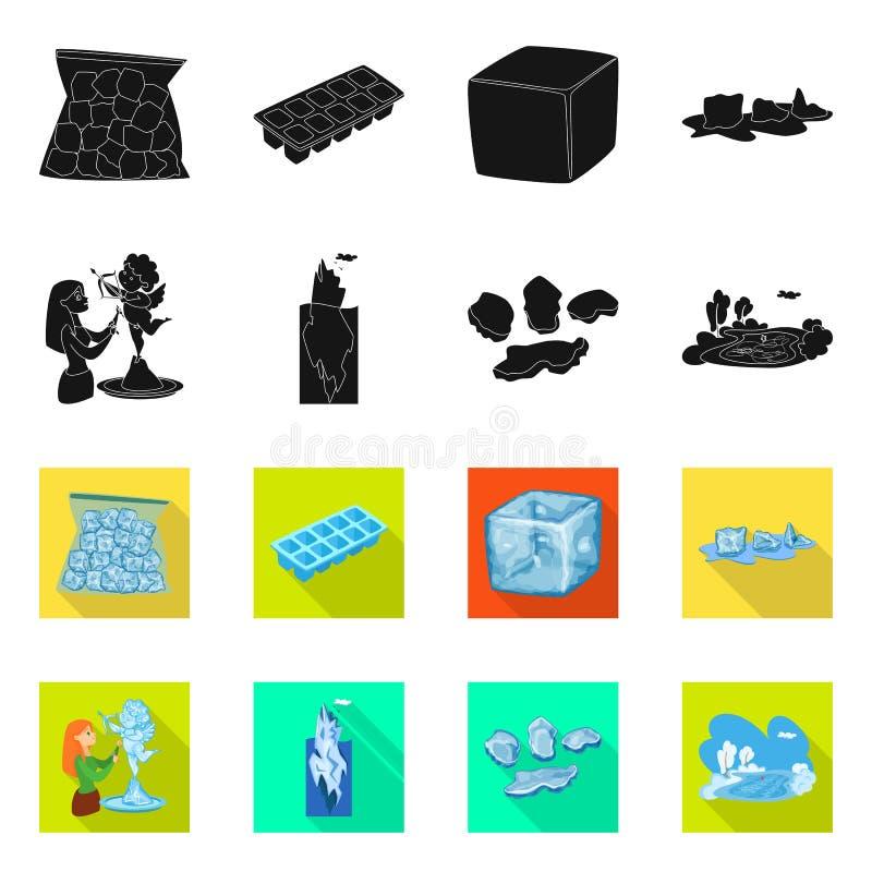 Isolerat objekt av textur och den djupfrysta symbolen St?ll in av textur och genomskinlig materielvektorillustration stock illustrationer